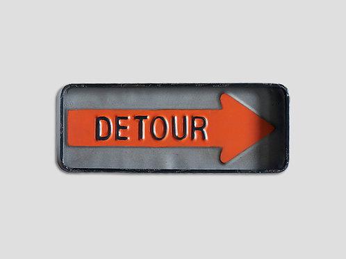 """Placa """"Detour"""""""