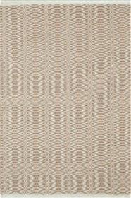 Tapete cotton woven, castanho e verde