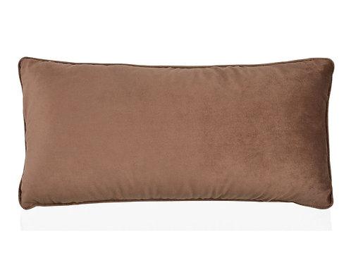 Almofada veludo castanha com 30x60cm