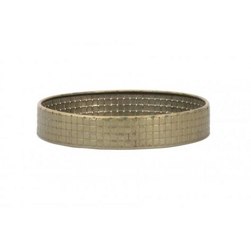 Tabuleiro metálico dourado