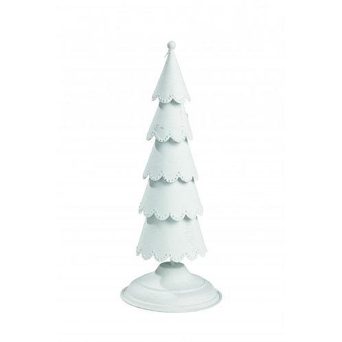 Árvore de Natal, metal pintado de branco