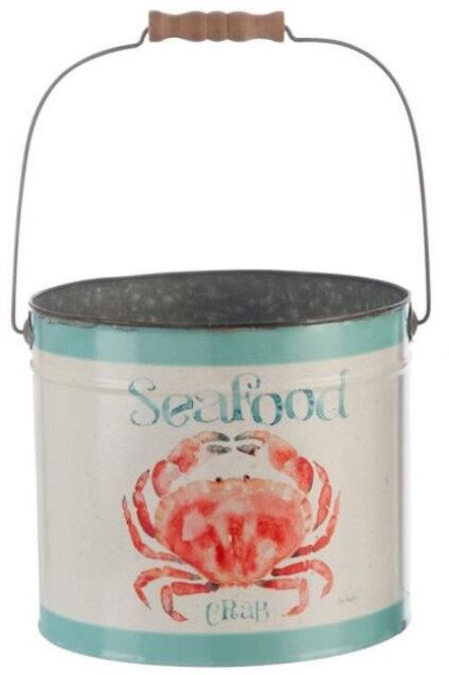 Balde metálico seafood L