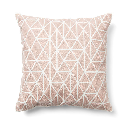 Almofada rosa com 45 x 45