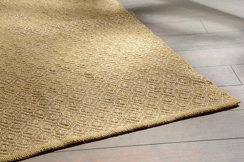 Tapete creme e amarelo torrado, com 1.20m x 1.80m