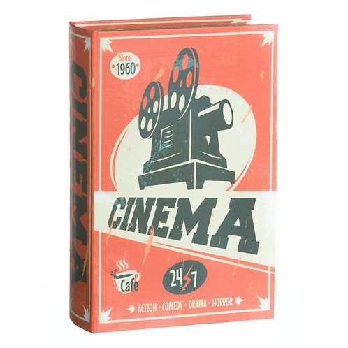 Cx livro cinema, com 27x27x7cm