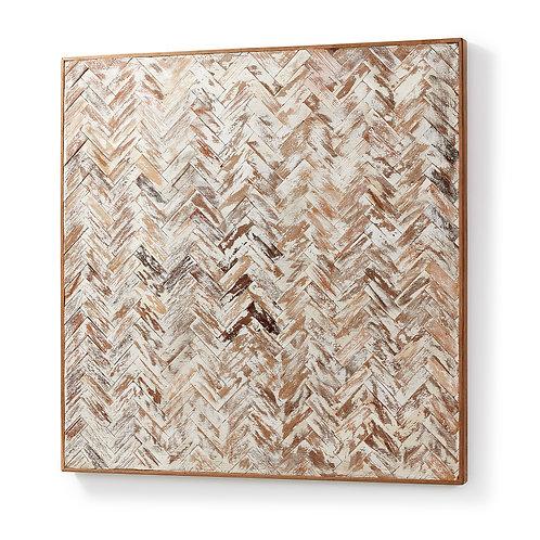 Quadro em madeira reciclada com 0.80x0.80m