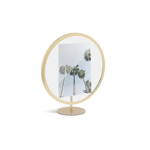 Moldura redonda dourada para fotos 13x18 cm