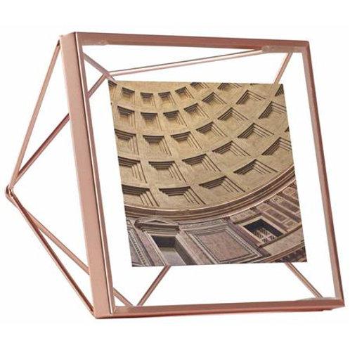 Moldura prisma cobre para fotos 10x10cm