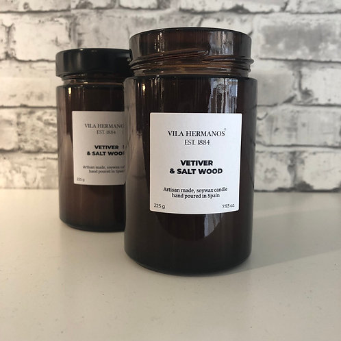 Vela perfumada Vetiver & Salt Wood 225gr