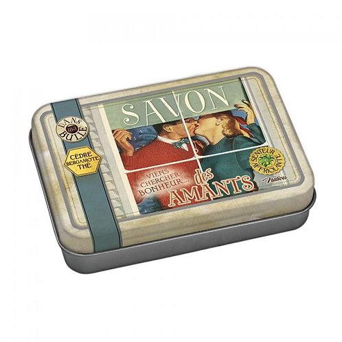 Sabonete em caixa metálica - Savon des amants