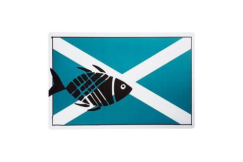 Set 4 individuais peixe com 43x28 cm