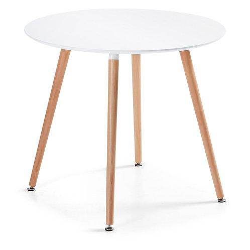 Mesa de refeições em madeira e lacada de br