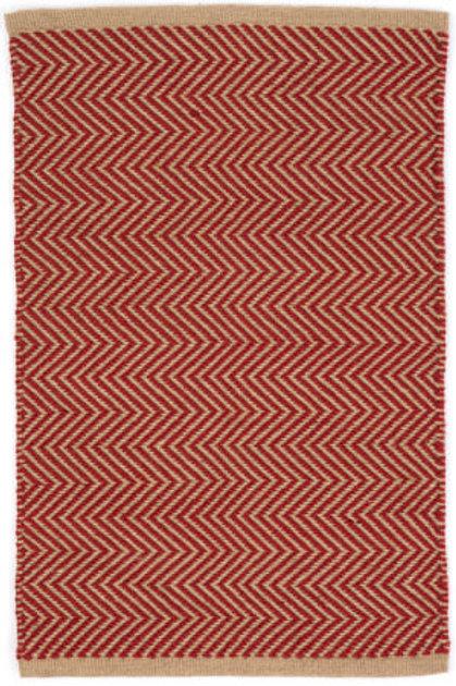 Tapete Indoor / outdoor, vermelho e creme