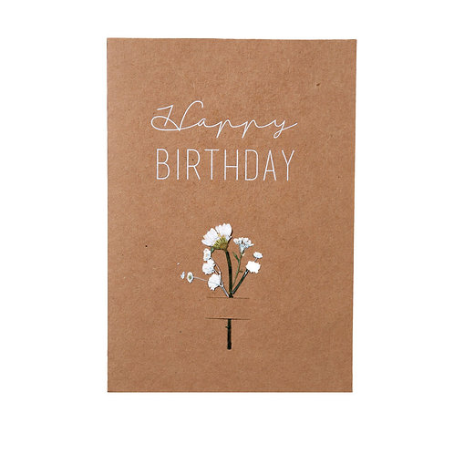 "Postal ""Happy Birthday"""
