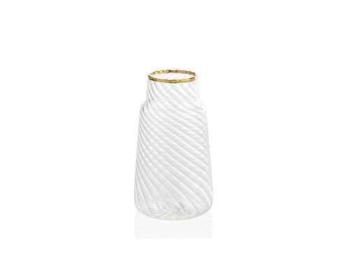 Jarra de vidro / dourada