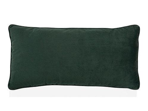 Almofada em veludo verde com 30x60cm