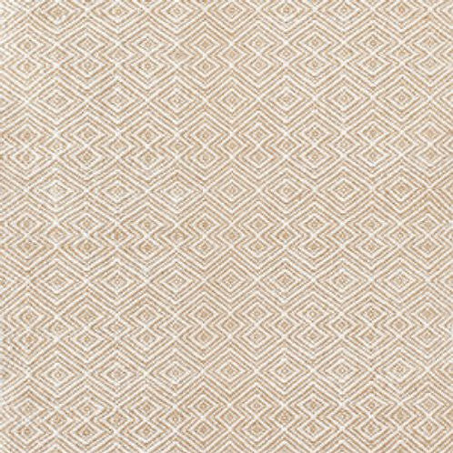 Tapete indoor / outdoor, creme e branco