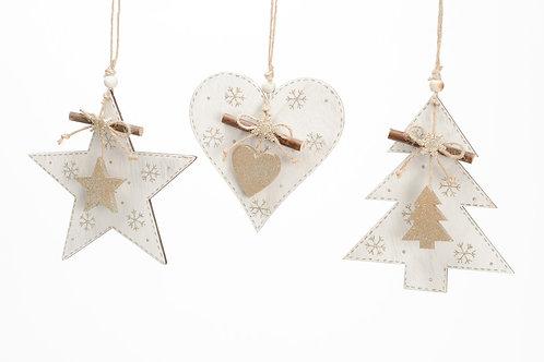 Surtido dourado L árvore / estrela / coração