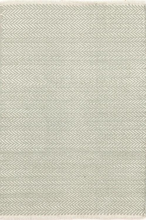 Tapete cotton woven, verde e branco