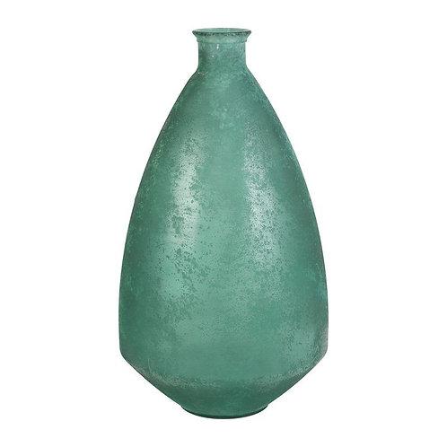 Jarrão verde alto, com 33x26x60cm, vidro