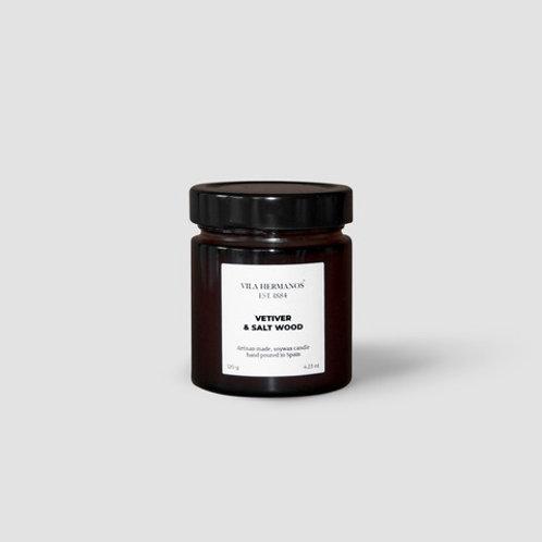 Vela perfumada Vetiver & Salt Wood 120gr