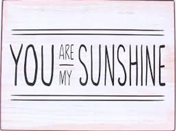 Placa metálica - You are my sunshine