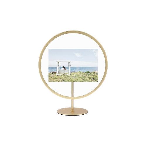 Moldura redonda dourada para fotos 10x15cm