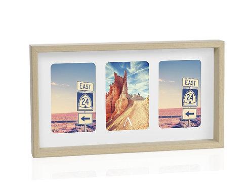 Moldura para 3 fotos 10x15cm