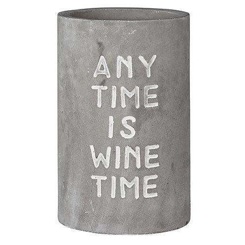 """Garrafeira """"any time is wine time"""" com 21.5 cm alt."""