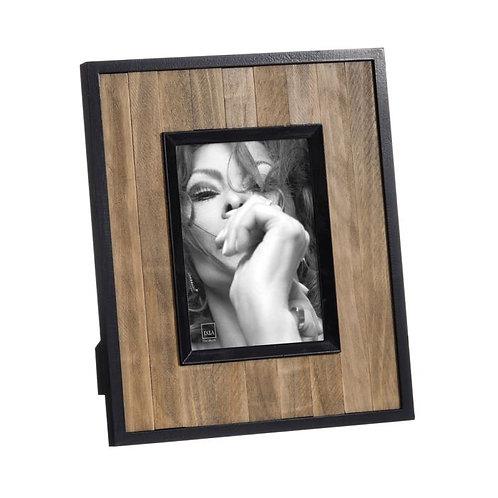 Moldura madeira e preta, para fotografias 13x18cm