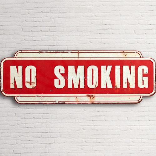 """Placa """"No smoking"""""""