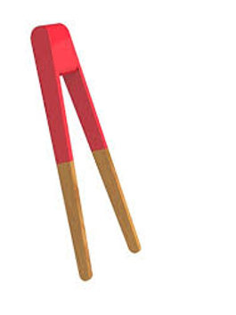 Pinça de bambu para sushi - vermelho