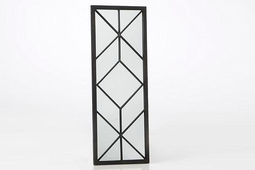 Espelho em metal preto com 101x37cm