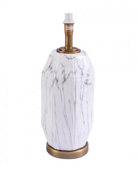 Candeeiro em cerâmica, comL 18 x C 18 x A/E 48 cm