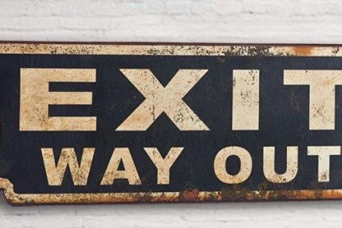 """Placa """"Exit"""""""