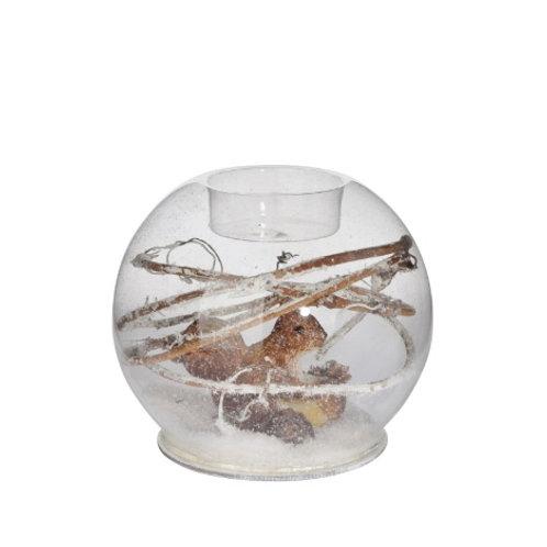 Veleiro, em vidro com esquilo