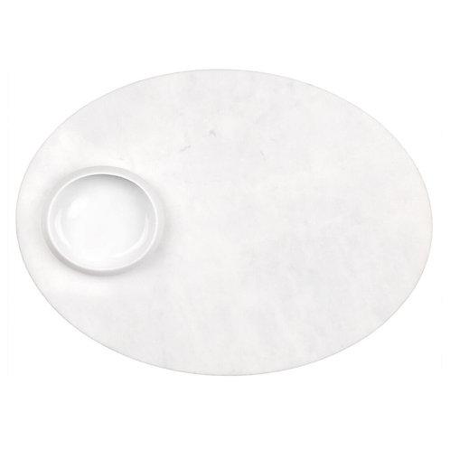 Prato em mármore com tacinha