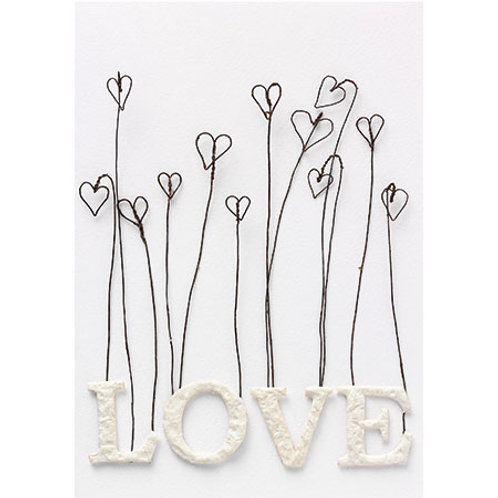 "Postal ""Love hearts"""