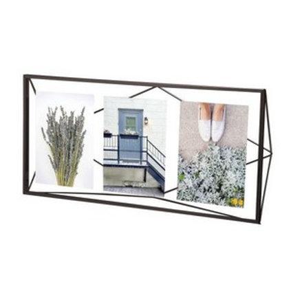 Moldura preta para 3 fotos 10x15cm