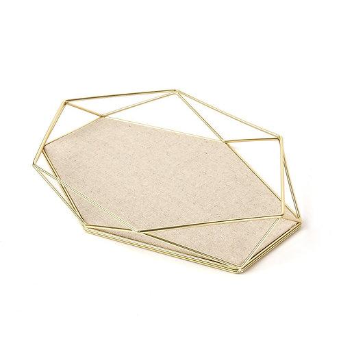 Prato dourado para jóias