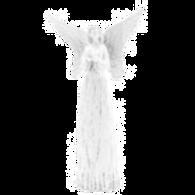 Anjo branco com 34 cm de altura