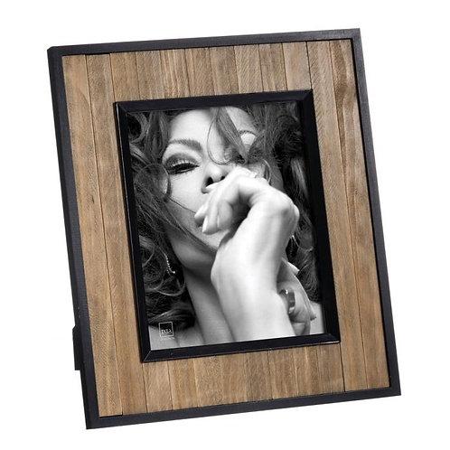 Moldura madeira e preta, para fotografias 20x25cm