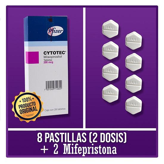 8 Cytotec + 2 Mefaprix