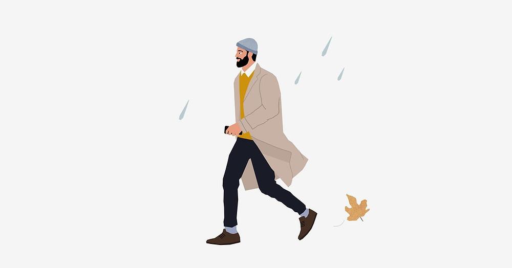 לשמור על הזקן בגשם