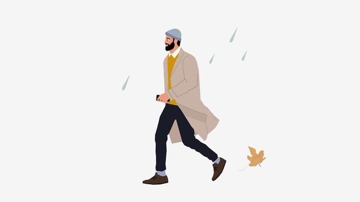 איך לשמור על הזקן בגשם
