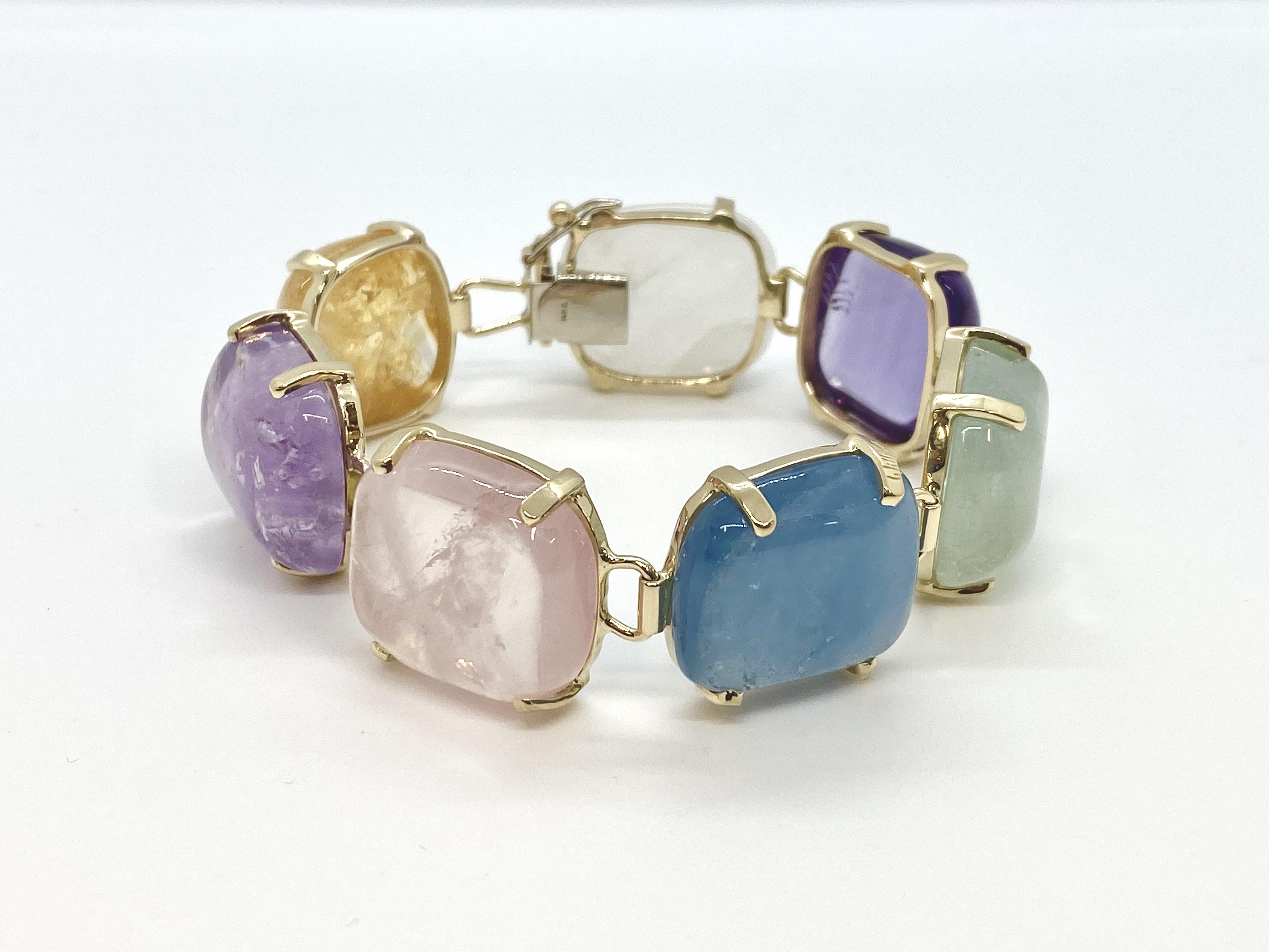 14k Square Nugget Bracelet