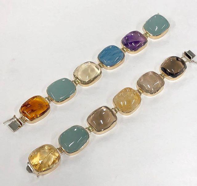 14k Bezel Bracelets