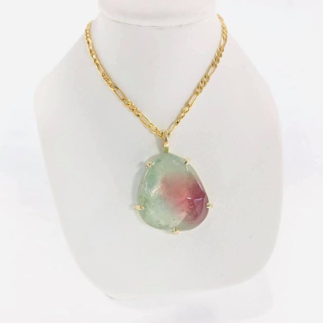 14k Maine Watermelon Tourmaline