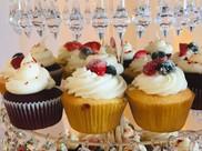 Red Velvet and Berries Cupcake
