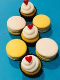 Piña Colada Macaron and Cupcakes